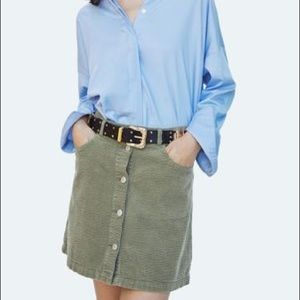 Zara Corduroy Button Down Mini Skirt